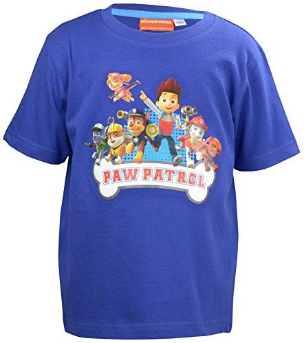 T-Shirt Paw Patrol-0122007, Blau (Blau), Medium (Herstellergröße: 122/128) (Polizei Kleidung Für Kinder)