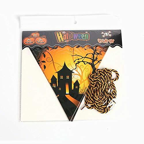 Hilai Halloween Banner Flags Kürbis Hexen Palast Muster Halloween Party Dekorationen 2 Meter lang 1pcs