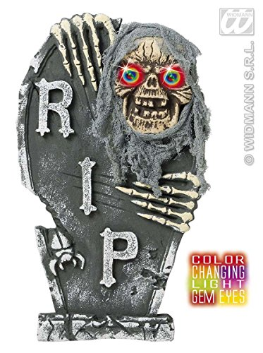 Widmann 7775S Grabstein mit Zombie Skelett, unisex-adult, 60 cm