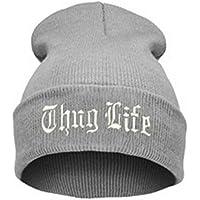 HPOZA Cappello Nero da Lettera per Uomo Thug Life Cappelli Lavorati A Maglia Maschile Femmina Inverno Skullies E…