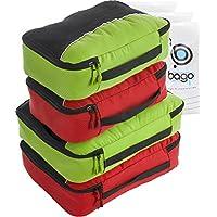 4Pz Bago Cubi Di Imballaggio - Set per Viaggi + 6Pz Sacchetti Organizzatori per i bagagli - Mano Bagagli