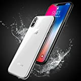 iPhone X Handyhülle, KOROSTRO Schutzhülle iPhone X Hülle Transparent Soft Silikon Hülle Liquid Crystal Ultra Dünn Anti-Shock Anti-Scratch Bumper Case für iPhone X Cover - Crystal Clear