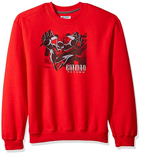 Trevco Herren Batman Beyond City Jump Crewneck Sweatshirt, Red, Groß City Crewneck Sweatshirts