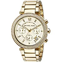Michael Kors MK5354 Chronograph Stone Set Womens Watch (Gold)