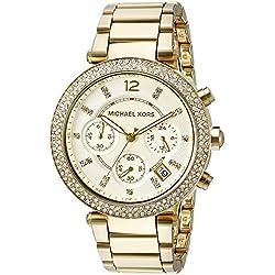 Michael Kors MK5354 Chronograph Stone Set Womens Watch - Gold