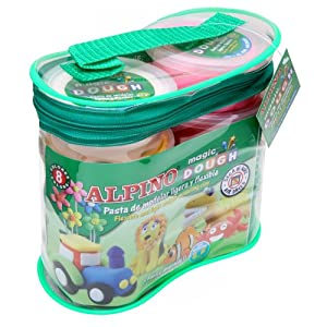 Alpino – Kit de Modelado Magic Dough 8 x 40 gr