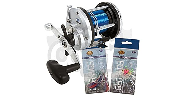 Lineaeffe JD500 Multiplier Boat Sea //Beach Fishing Reel spooled with 50lb line