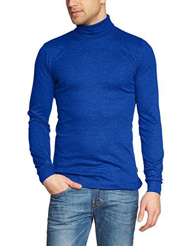 Trigema Herren Langarmshirt Ski/Sport-Rolli, Einfarbig Blau (royal 049)