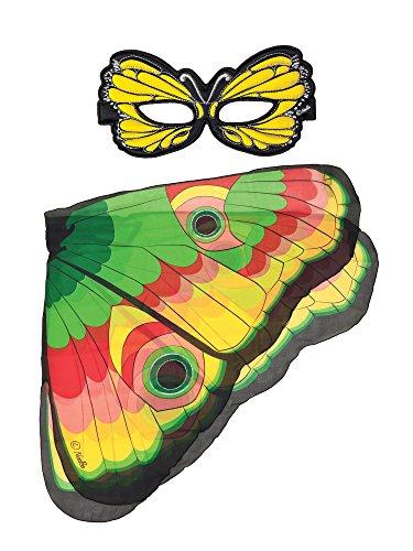 322-Spielset: Flügel + Maske, gelb Schmetterling (Schmetterlings Masken Für Kinder)