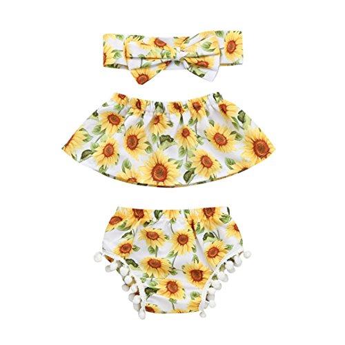 4fb650171 Counjunto de ropa bebé niña Verano, ❤ Amlaiworld Bebés Recién ...