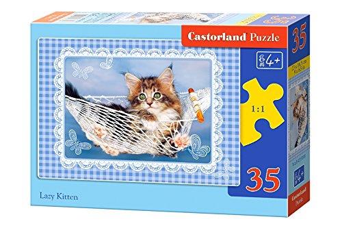 Castorland - B-035199 - Puzzle - Chat Paresseux - 35 Pièces