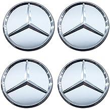 4 tapacubos de repuesto para Mercedes Benz, Estrella azul con corona de Laurel, para