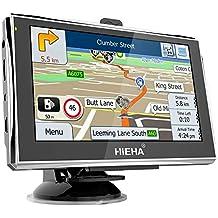 Hieha GPS Navegador 8GB de 5 Pulgadas para Camión y Coche Navegación Mapa Europeo para toda la Vida