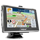 "Hieha 5"" Zoll 8GB Navi Navigation Navigationsgerät GPS Navigationssystem LKW PKW Auto Europe Traffic mit Fahrspurassistent Blitzerwarnungen EU UK 2017 Karte Lebenslange Kartenupdates"