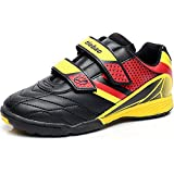 Tiebao Boys' Hard Ground Pu Leather Football Boots