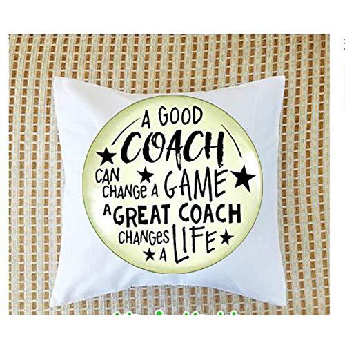 asd Volleyball Coaching Schlüsselanhänger A Great Coach Changes A Life Zitat Thank You Schlüsselanhänger Geschenk für Männer Frauen Kissen Nackenrolle