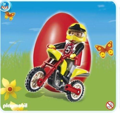 Playmobil - 4923 4923 4923 - oeuf 2010 pilote et moto d58800