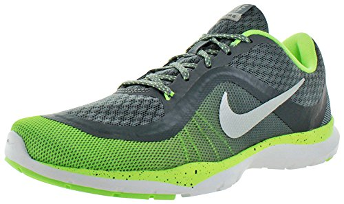 Nike W Flex Trainer 6 Print, Scarpe da Ginnastica Donna Grigio (Gris (Cl Gry / Mtllc Slvr-Ghst Grn-Wlf))