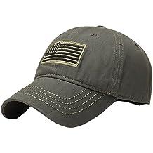 Aesy Gorra de Beisbol,Sombrero de Bandera Americana Thin Blue Line Memorial USA Hat Sombrero