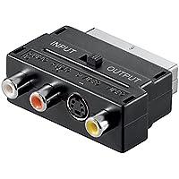 Adaptador convertidor euro conector euroconector a 3rca convertidor s-video 3 RCA AD21