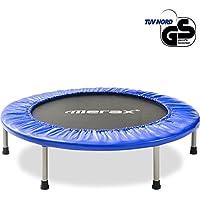 Merax Trampolin, Klappbare Trampoline, Indoortrampolin für Fitnesstraining, Gymnastik Trampolin, Durchmesser ca. 102cm/40', ca. 92cm/36' Max. Benutzergewicht 100kg