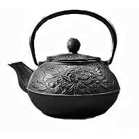 Fusioni giapponese Iron Pot modello Peonia smalto parete Tea acqua
