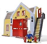 Simba 109251062 - Feuerwehrmann Sam Feuerwehrstation mit Figur 30 cm