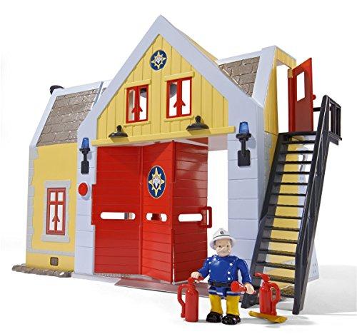 feuerwehrmann sam neue feuerwehrstation Simba 109251062 - Feuerwehrmann Sam Feuerwehrstation mit Figur 30 cm