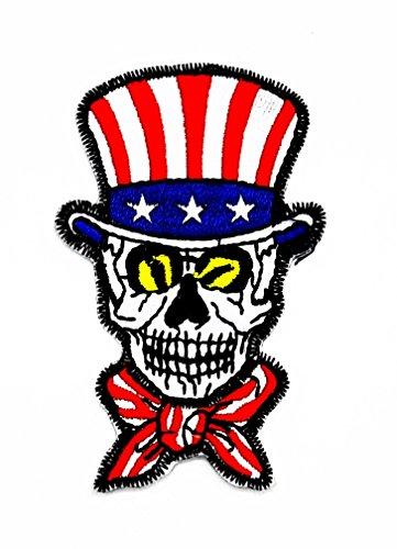Totenkopf Bad Boy Girl Devil Zombie Flagge USA American Wolfskopf-Motiv Patch Hand bestickt und Bügelbild Symbol Jacke T-Shirt patches aufnäher Zubehör
