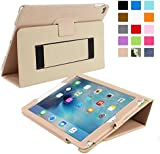 iPad Air 2 Case, Snugg™ Black Leather iPad Air 2 Smart Case Cover [Lifetime Guarantee] Protective Flip Stand for Apple iPad Air 2 With Auto Wake & Sleep
