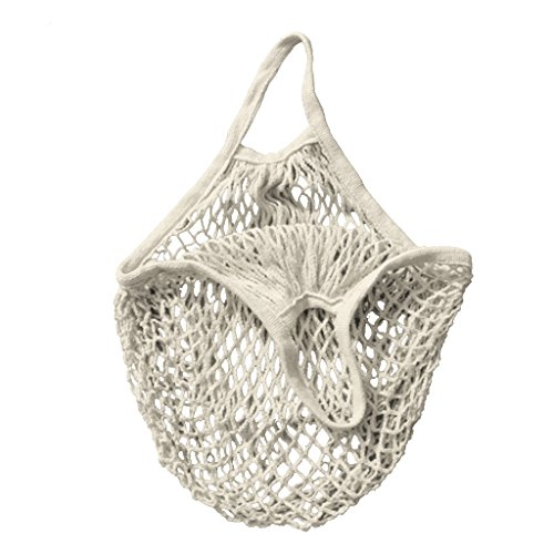 RETON 15 Inch Netztasche Organic Cotton String Einkaufstasche Net Woven wiederverwendbare Tasche - Weiß (Obst-termine)
