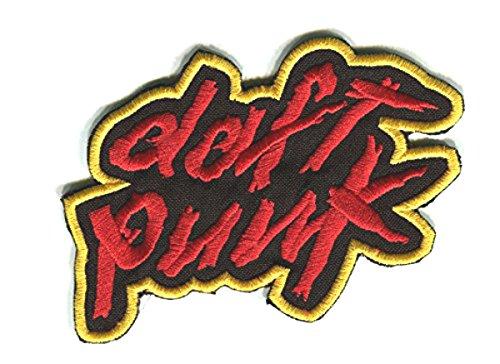 Cosplay Daft Punk Kostüm - XL Daft Punk Patch (21,6cm) Embroidered Iron on Badge Aufnäher Kostüm Fancy Kleid Cosplay Jacke