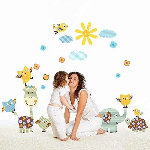 R00399 Adesivo murale per bambini Wall Art - Giardino dei piccoli -...