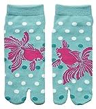 Damen Tabi Socken Zehensocken Goldfisch Japanischer Koi