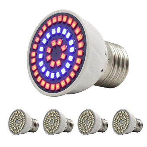 LEDIARY 3W E27Pflanzen Grow Glühlampe mit 54pcs LEDs 36rot und 18blau für Zimmergewächshaus Blühende Pflanze Beleuchtung Garten-Hydrokultur System