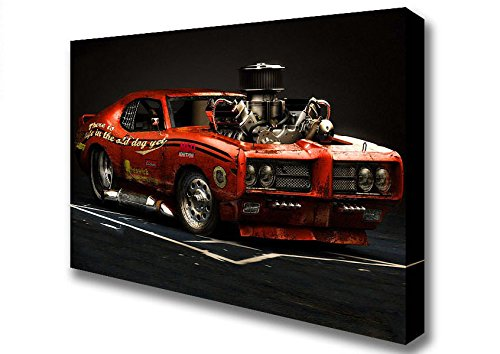 cars-pontiac-gto-american-muscle-car-canvas-art-prints-small-14-x-20-inches