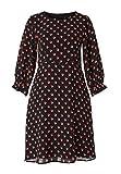 HALLHUBER Crêpe-Kleid mit Tupfenprint ausgestellter Schnitt Multicolor, 38