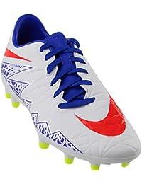 Nike Women's Hypervenom Phelon II FG Soccer Cleat (White, Racer Blue)