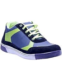 Savie Shoes Men's Green & Blue Casual Sport Shoes
