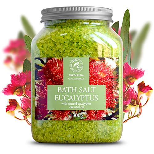 Sales Baño Eucalipto 1300g   Aceite Esencial Eucalipto