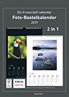 Foto-Bastelkalender 2019 - 2 in 1: schwarz und weiss - Bastelkalender: Do it yourself calendar A4 - datiert