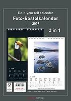Foto-Bastelkalender 2019 - 2 in 1: schwarz und weiss - Bastelkalender: Do it yourself calendar A4 - datiert