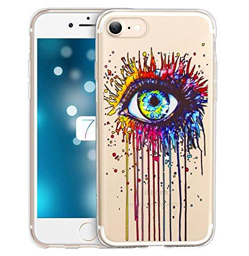 iPhone 7 Coque, FoneExpert® Très mince Etui Housse Coque Transparent TPU Gel Cover Case pour iPhone 7 (Color 9) Color 3