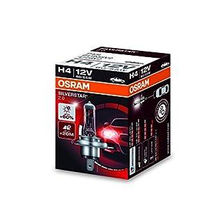 Osram SILVERSTAR 2.0 H4, Halogen-Scheinwerferlampe, 64193SV2, 12V PKW, Faltschachtel (1 Stück)