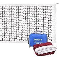 werded bádminton Net- grande multiusos estándar Red (trenzado de nailon de malla en color rojo) para deportes de interior o al aire libre jardín Patio Patio