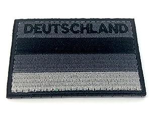Deutschland Allemand Noir Discret Brodé Airsoft Morale Patch