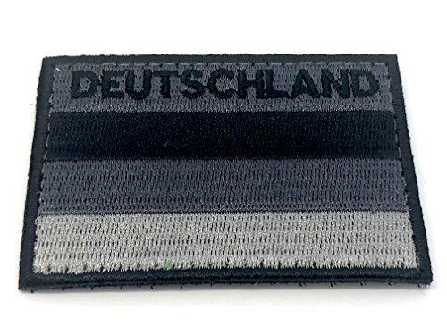 Patch Nation Deutschland Gedämpft Schwarz Flagge Cosplay Bestickt Airsoft Klett-Patch