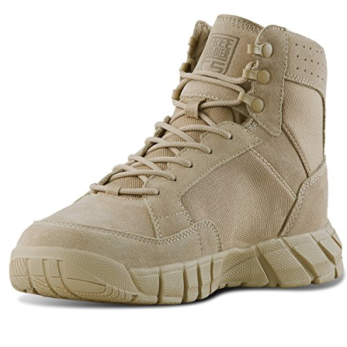 Free Soldier outdoor 2nd generation storm – giacca traspirante resistente con lacci per scarpe/stivali scarpe da trekking militare tattico di combattimento(Sand Color,45)