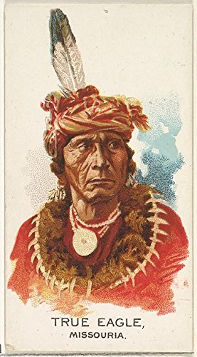 ' - True Eagle Missouria from The American Indian Chiefs Series (N2) for Allen & Ginter Cigarettes Brands Kunstdruck (45,72 x 60,96 cm) (Eagle American True)