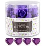 150 lila Schokoladen Herzen Panama